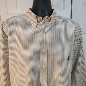 RALPH LAUREN  Beige Checked Shirt Size 2XLT